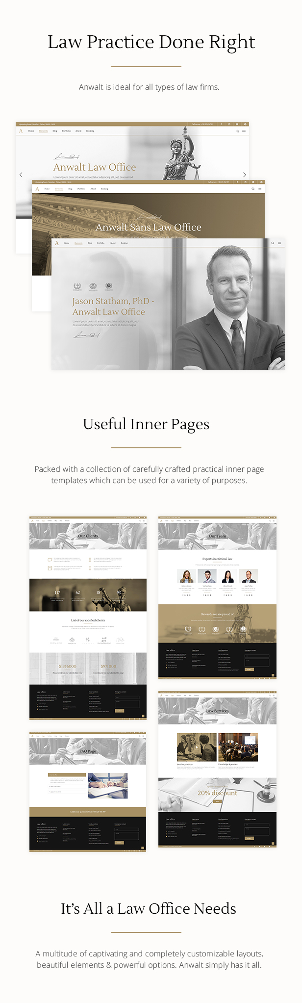 WordPress theme Anwalt - A Lawyer and Law Office Theme (Business)